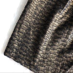 GAP Skirts - LAST CHANCE 🔥 Gap • Black Gold Metallic Skirt